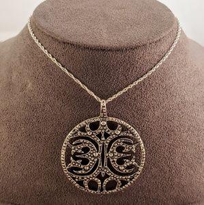 Ornate Open Work Sterling Silver Pendant
